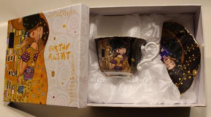 Slika GUSTAV KLIMT - skodelica z krožnikom črna