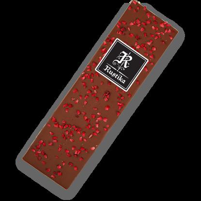 Slika Mlečna čokolada z malinami