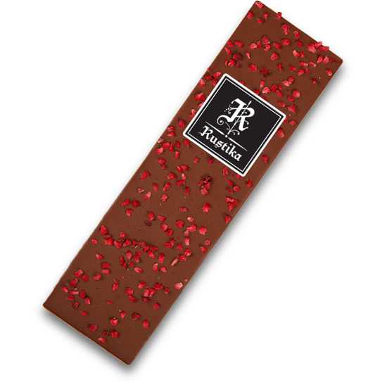 Mlečna čokolada z malinami