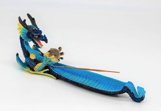 Bild von Blauer Drache Räucherstäbchen halter