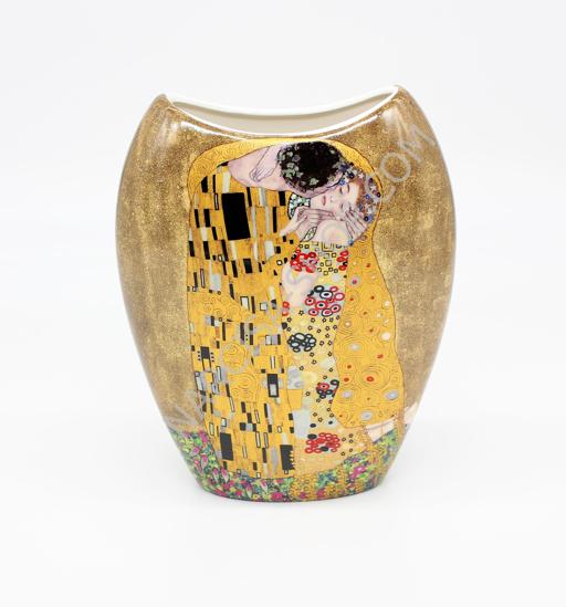 GUSTAV KLIMT - keramična vaza zlata podlaga