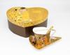 GUSTAV KLIMT - set trikotnih skodelic,krožnikov in žličk zlat