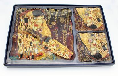 Slika GUSTAV KLIMT - krožnik z lopatko in dvema majhnima krožnikoma