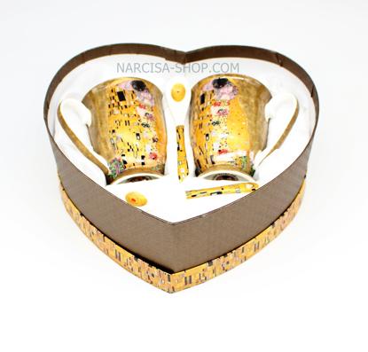 Slika GUSTAV KLIMT - 2 skodelici in 2 žlički