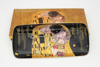 Slika GUSTAV KLIMT - keramičen pladenj črn