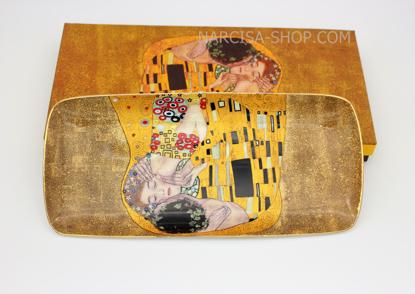 Slika GUSTAV KLIMT - keramičen pladenj zlat