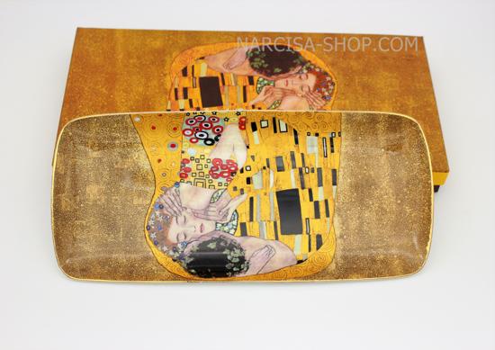 GUSTAV KLIMT - keramičen pladenj zlat