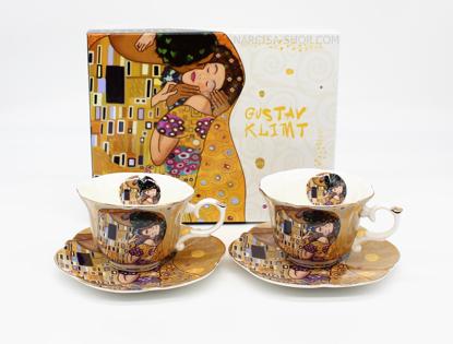 Slika GUSTAV KLIMT - set skodelic zlat