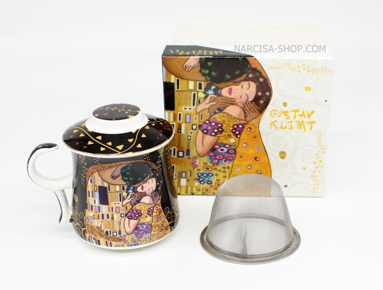 GUSTAV KLIMT - skodelica čaj črna
