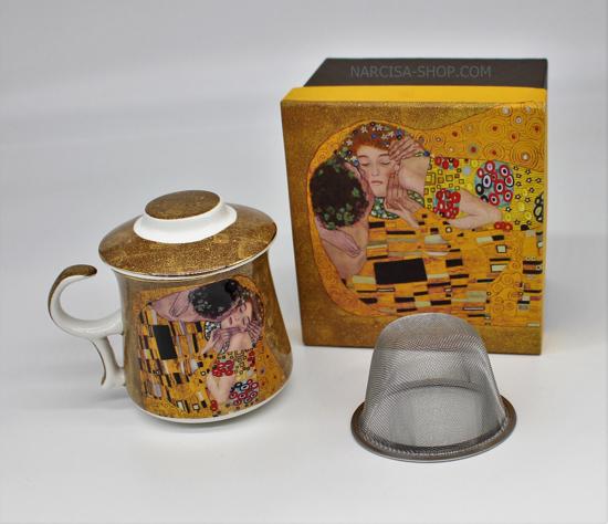GUSTAV KLIMT - skodelica čaj zlata