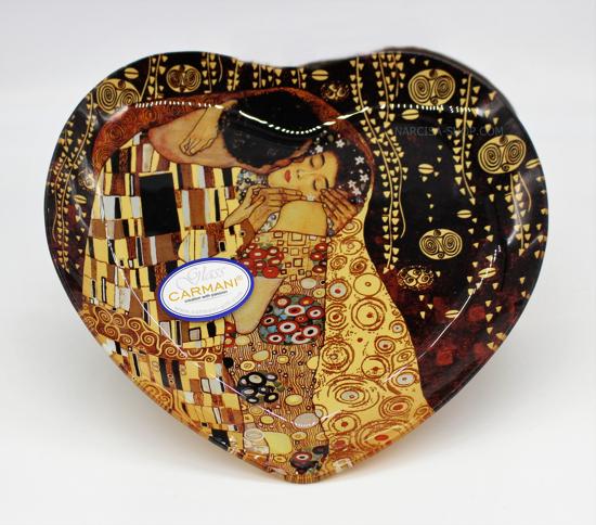 GUSTAV KLIMT - stekleno srce črno