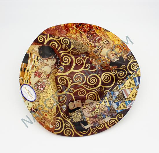 Bild von GUSTAV KLIMT - izbočen steklen krožnik