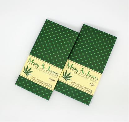 Slika MARY & JUANA Cannabis mlečna čokolada