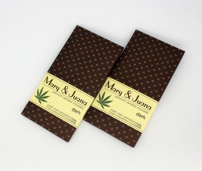 Slika MARY & JUANA Cannabis temna čokolada