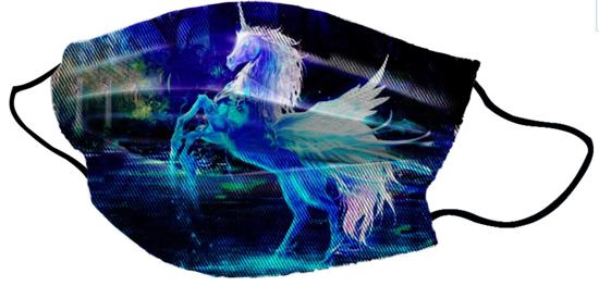 Pralna obrazna maska Unicorn Water