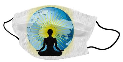 Bild von Pralna obrazna maska Man Globe