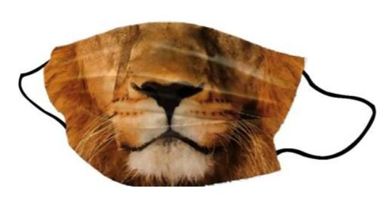 Pralna obrazna maska Lion