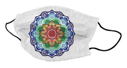 Bild von Pralna obrazna maska Mandala Lotus