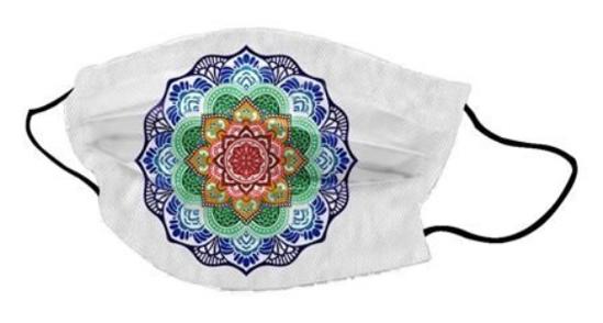 Pralna obrazna maska Mandala Lotus