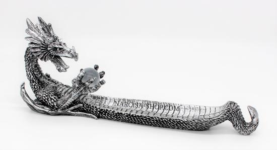 Bild von Silberdrache  Räucherstäbchen halter
