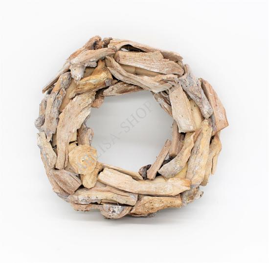 Bild von Adventskranz  aus Holzstücken