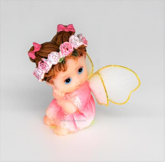 Bild von  Rosa Engel mit Seidenflügeln.
