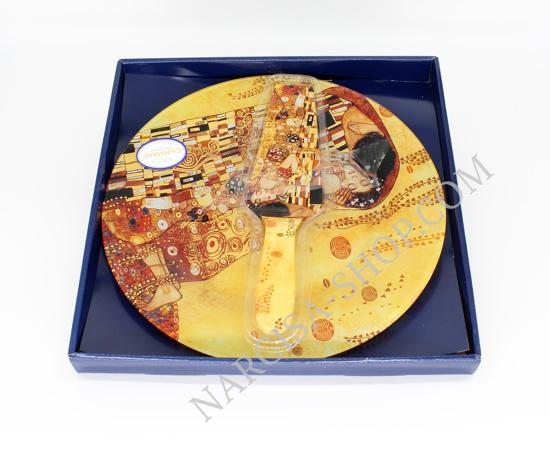 Bild von  GUSTAV KLIMT - Glastortenschale mit Goldspatel inklusive