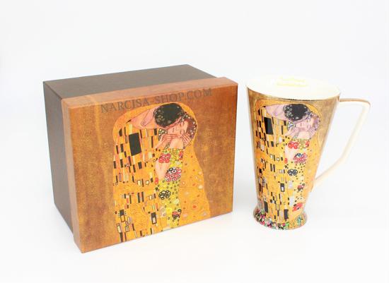 GUSTAV KLIMT - skodelica kapučino zlata