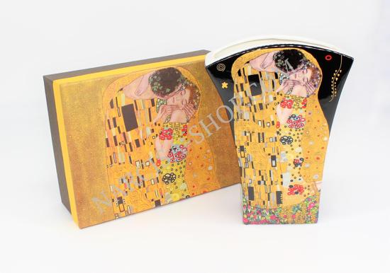 GUSTAV KLIMT - keramična vaza črna