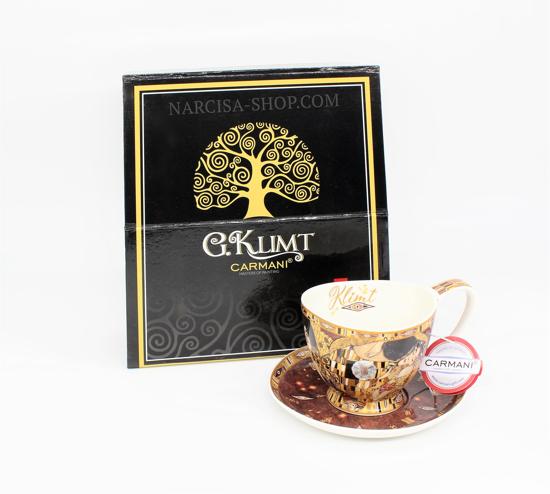 Bild von  GUSTAV KLIMT - Tasse in einer Kombination aus Braun