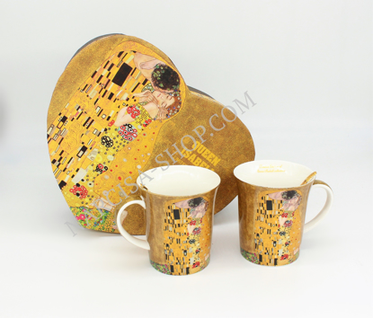 Slika GUSTAV KLIMT - 2 skodelici in 2 žlički zlata