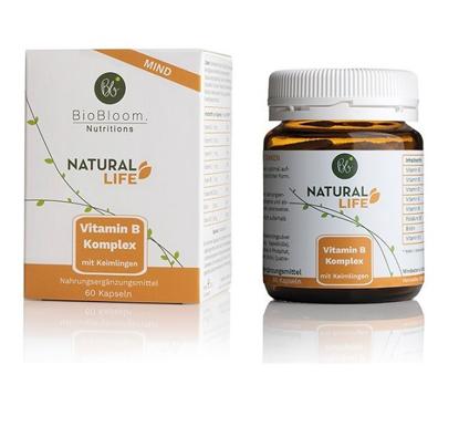 Bild von Vitamin B,  Natural MIND - Vitamin B-Komplex, 60 Kapseln