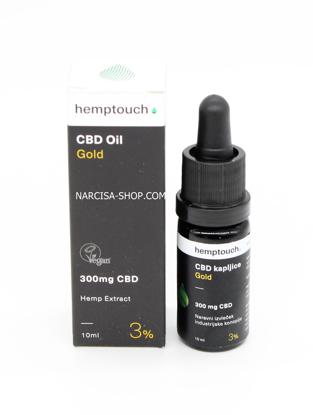Slika CBD kapljice Amber 300 mg CBD